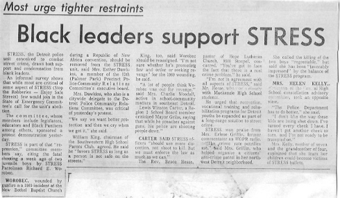 Black leaders support STRESS 1